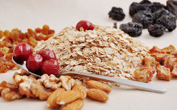 Voorbereide ingrediënten voor baksel Royalty-vrije Stock Afbeeldingen