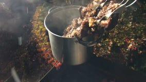 Voorbereide kebab stock videobeelden