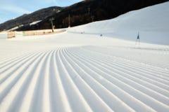 Voorbereide skihelling Royalty-vrije Stock Afbeelding
