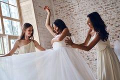 Voorbereiding vóór huwelijk Stock Afbeeldingen