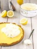 De pastei van de citroen. Stock Foto's