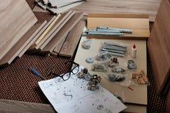 Voorbereiding voor Nieuwe Meubilairinstallatie stock foto's