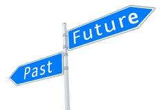Voorbij - toekomst vector illustratie