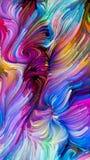 Voorbij Vloeibare Kleur royalty-vrije illustratie