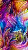 Voorbij Vloeibare Kleur vector illustratie