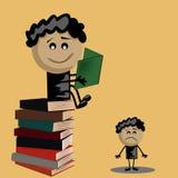 Voordeel van de boeken Stock Illustratie