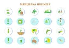Voordelen van marihuana stock illustratie