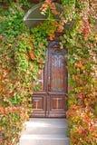 Voordeur in het oude huis Royalty-vrije Stock Afbeeldingen