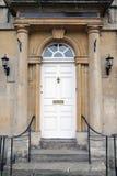 Voordeur van een Rijtjeshuis van Londen stock foto