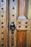 Voordeur van kerk in Stad van Montpelier, Washington County, Vermont, Verenigde Staten, de V.S., de V.S. stock foto's