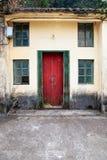 Voordeur van oud Chinees huis Royalty-vrije Stock Afbeelding