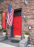 Voordeur voor Gettysburg-Huis stock foto's