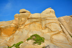 Voorgekomen doorstaand graniet in Fujian, Zuiden van China royalty-vrije stock afbeelding