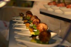 Voorgerecht - hoogste gastronomie royalty-vrije stock foto