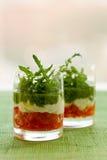 Voorgerecht met tomaat, kaas en pesto Royalty-vrije Stock Fotografie