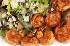 Voorgerecht met yummy garnalen Stock Fotografie
