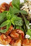 Voorgerecht met yummy garnalen Stock Afbeelding