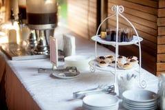 Voorgerecht minicakes van cocktail Stock Afbeelding