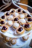 Voorgerecht minicakes van cocktail Royalty-vrije Stock Afbeeldingen