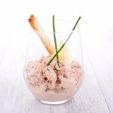 Voorgerecht, tonijnroom stock foto's