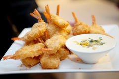 Voorgerecht Tray Fried Shrimp Stock Fotografie
