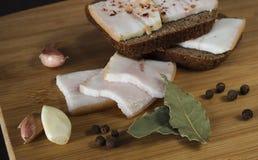 Voorgerecht, vet, brood, knoflook Stock Afbeelding