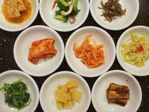 Voorgerechten in een Koreaanse Maaltijd Royalty-vrije Stock Foto's