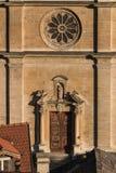 Voorgevel van Bellinzona kathedraal Stock Foto