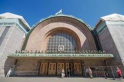Voorgevel van Centraal station op 21 Juni, 2013 in Helsinki, Finland Stock Fotografie