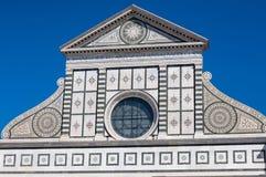 Voorgevel van de Basiliek van Santa Maria Novella, Florence, Italië Stock Afbeelding