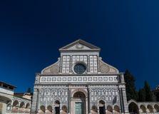 Voorgevel van de Basiliek van Santa Maria Novella, Florence, Italië Royalty-vrije Stock Foto