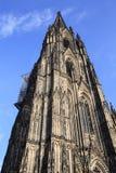 Voorgevel van de Dom kerk in de stad Keulen Stock Foto's