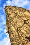 Voorgevel van de Dom kerk in de stad Keulen door zon wordt aangestoken die Stock Fotografie