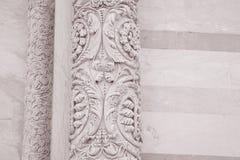 Voorgevel van de Doopkapel van de de Kathedraalkerk van Pisa, Italië Royalty-vrije Stock Fotografie