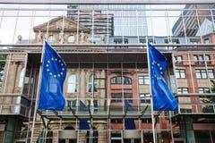 Voorgevel van de Euro Toren met bezinningen royalty-vrije stock foto's
