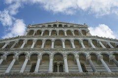 Voorgevel van de Kathedraal van Pisa Royalty-vrije Stock Fotografie