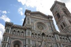 Voorgevel van de Kathedraal van Santa Maria del Fiore, Florence, Italië Stock Afbeelding
