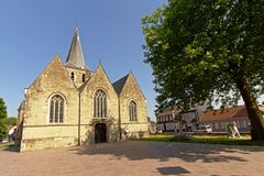Voorgevel van de kerk van Heilige Macharius in Laarne, België Royalty-vrije Stock Afbeeldingen