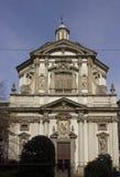 Voorgevel van de kerk van San Giuseppe in Milaan Royalty-vrije Stock Foto