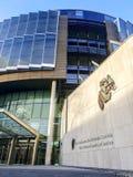 Voorgevel van de Strafrechters van Rechtvaardigheid - Dublin royalty-vrije stock fotografie