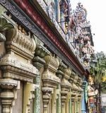 Voorgevel van de Tempel van Sri Krishnan bij Waterloo Straat stock afbeelding