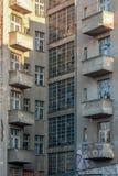 Voorgevel van de verlaten bouw in Dresden, Duitsland royalty-vrije stock foto's