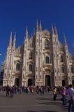 Voorgevel van 'Duomo-Di Milaan' Stock Foto