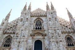 Voorgevel van Duomo-Di Milaan, Milaan, Italië Stock Afbeelding