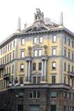 Voorgevel van een elegant huis in Breganze-provincie van Vicenza in Veneto (Italië) Royalty-vrije Stock Afbeelding