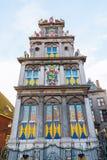 Voorgevel van een historisch gebouw in Hoorn, Nederland royalty-vrije stock afbeelding