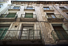 Voorgevel van een huis in Barbatro, Spanje Royalty-vrije Stock Fotografie