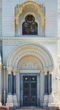 Voorgevel van een kathedraal Royalty-vrije Stock Afbeeldingen