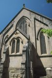 Voorgevel van een oude kapel Stock Fotografie