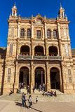 Voorgevel van een zijgebouw bij het Vierkant van Spanje, die momenteel door Immigratieafdeling wordt gebruikt van de overheid van royalty-vrije stock foto